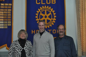 Lori Weston Rotary President, Dave Rowe guest speaker of Steve Bither
