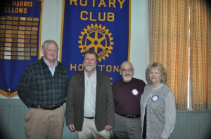 Houlton Rotary  guest speakers for Monday March 17, 2014 Al Cowperthwathite, Northern Maine Woods Don Kleiner, Executive Director Maine Guides Association Dale & Eleanor Goodman, North County Lodge
